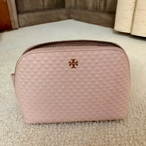 Tory Burch Embossed Patent Leather Cosmetic Bag